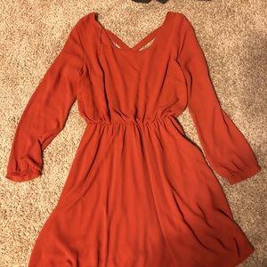 Lush chiffon long sleeve dress